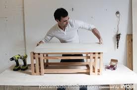 homemade modern diy ep15 concrete wood coffee table step 10