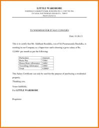 Resume Responsibilities Salary Certificate Sample Letter Resume