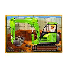 melissa doug construction vehicles 4 in 1 wooden jigsaw puzzles 48 pcs preschool toys pretend play
