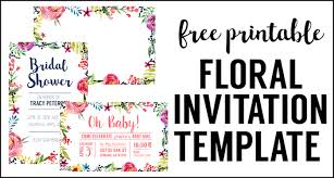 Party Invites Templates Free Floral Borders Invitations Free Printable Invitation Templates