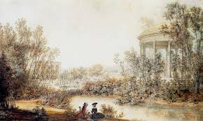 view of cupid s temple in the english garden of the petit trianon louis nicolas de
