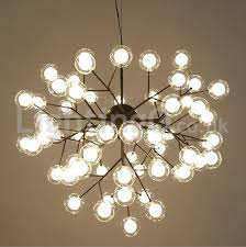 nordic postmodern molecular bubble chandelier living room bedroom dining room study glass led chandelier
