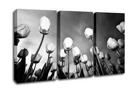 flowers 3 panel black and white tulip skys canvas art on black and white tulip wall art with black and white tulip skys flowers 3 panel canvas 3 panel set canvas