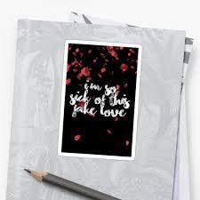 Bts Fake Love Lyrics Quote Stickers