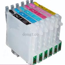 <b>1 set</b> for T0481 Empty <b>refillable ink cartridge</b> with ARC chips For ...