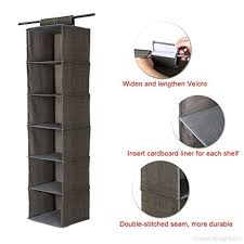 sturdy hanging closet organizer. Unique Closet SONGMICS 6Shelf Hanging Closet Organizer Sturdy Collapsible Storage Shelves  For Clothes And Shoes Light Brown  In