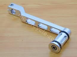<b>Chrome Motorcycle</b> Cut Pedal <b>Heel Toe</b> Gear Shifter Shift Lever W ...