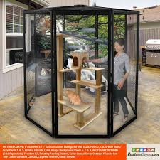6 diameter indoor outdoor cat cage 1