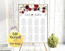 Editable Seating Chart Wedding Wedding Seating Chart Template Akarishop Info