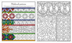 Medieval Patterns Adorable Medieval Patterns To Colour
