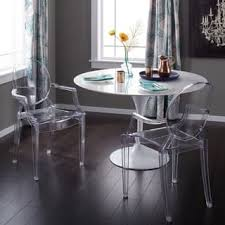 acrylic dining room chairs. Corvus Irene Modern Clear Acrylic Dining Chair With Armrests (Set Of 2) Room Chairs C