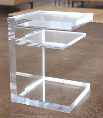 s lucite side table  room