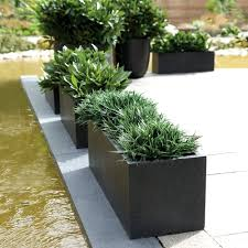 rectangular planters  cadix black low rectangular planters