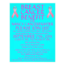Benefit Flyer Wording Breast Cancer Benefit Flyer