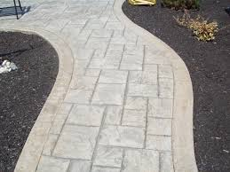 Concrete Path Designs Stamped Concrete Walkway Ashlar Slate Pattern Colors