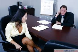 Sex on office desk asian