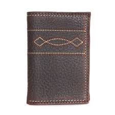 ariat mens western boot stitch trifold wallet