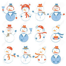A Cute Colorful Snowmen Collection