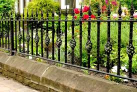 modern ironwork fence cast iron railing designs for garden decor for iok