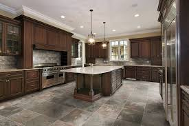 White Marble Kitchen Floor Kitchen Floor Tile Ideas With Oak Cabinets Blue Design Accent