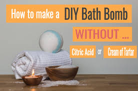 how to make diy bath s without citric acid or cream of tartar