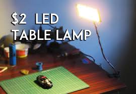 2 diy led lamp photography light table lamp usb light you