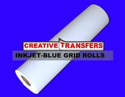 1 Grid Paper Roll Blue Grid Heat Transfer Paper Rolls 1 Inch Square
