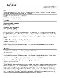 Resume Cover Letter Architecture Portfolio