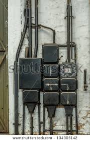 industrial fuse box on wall closeup stock photo 134305142 industrial fuse box on the wall closeup photo