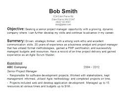 Generic Resume Objective Awesome 987 Sample Of General Resume General Resume Objective For Customer