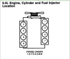 firing order diagram 6 0 ll ford diesel 2005 graphic