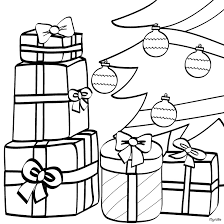 christmas tree with presents drawing.  Presents CHRISTMAS TREE Coloring Pages  Wrapped Gifts And Xmas Tree Inside Christmas Tree With Presents Drawing G