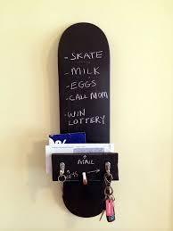 skateboard bedroom furniture. keyholder chalkboard skateboard home organizer by keyholderquality 4500 bedroom furniture