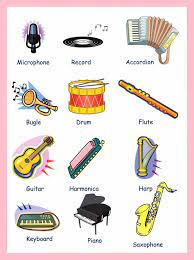 There are different types of drum. Learn English Vocabulary Through Pictures Musical Instruments Eslbuzz Learning English
