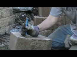 how to split wall block and bricks with