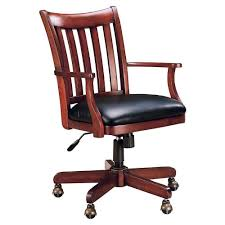furnitures executive office chairs brown wooden swivel chairs base wheel caster gas lift gas lift mechanism seat rail black chairs cushions arm splat back