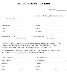 32 Bill Of Sales Motorcycle Usmlereview Document Template