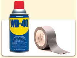 remove glue residue with wd40
