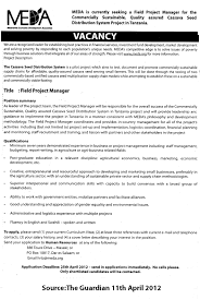 It Project Manager Job Description Field Project Manager TAYOA Employment Portal 9