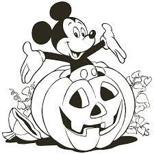 Printable Disney Halloween Color Pages The Art Jinni