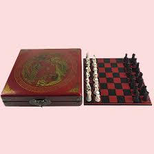 Vintage Wooden Board Games Miniature Antique Chess Set Vxotic 90