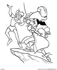 Small Picture Free Printable Peter Pan Coloring Pages Earlymomentscom