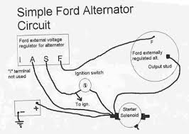 ford 4 wire alternator diagram ford wiring diagrams online