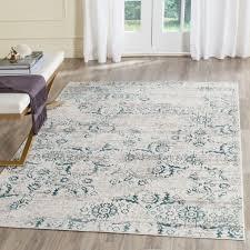 safavieh artifact blue cream 7 ft x 9 ft area rug