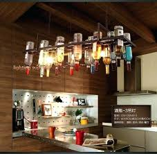 best pendant lights for breakfast bar mini lighting bars recycled retro hanging wine bottle lamps light with kitchen adorable re