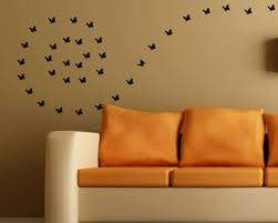large paw print wall decals awesome black erfly wall decal on a sand color brown wall