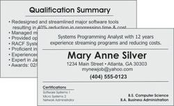 Resume Business Cards Resume Templates