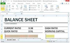 simple balance sheet example balance sheet excel simple balance sheet template for excel with