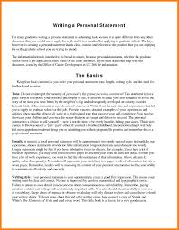 Personal Statement Examples For Resumes Personal Statements Example For Jobs Resume Statement Examples 15