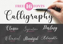 Top 16 Free Calligraphy Fonts Hand Lettering Howjoyful